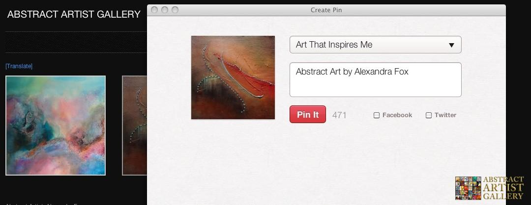 Pinterest Helping Abstract Artists