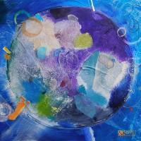 "Abstract Art Painting by Rinella Ivankovic ""A Found Planet"""