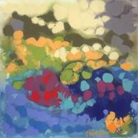 Abstract-Art-Painting-Pamela- Gatens-TidePoolReflectionsGatens