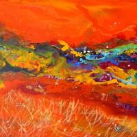 Abstract Art Painting by Caroline Ashwood