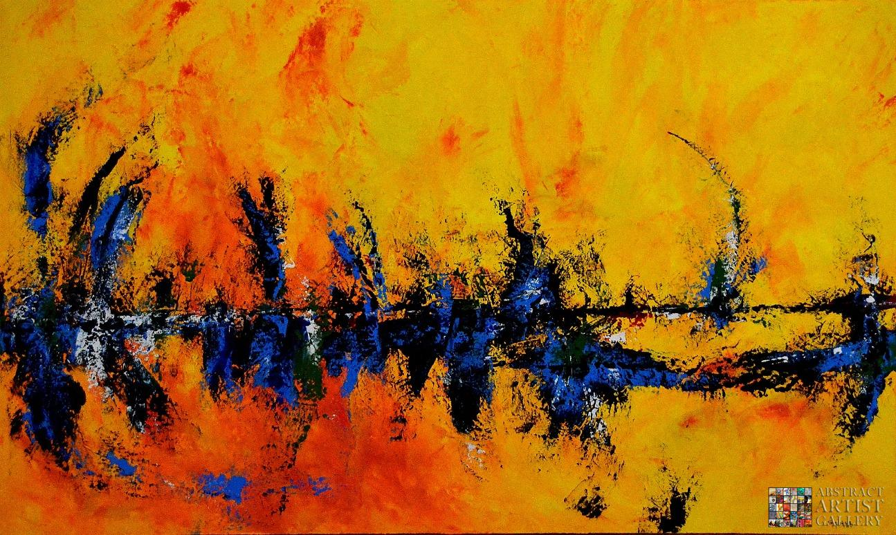 Abstract Art Painting Cafe Delight By Sabina D Antonio